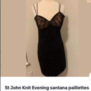 St John Knit Evening santana cocktail dress size 4